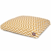 Yellow Chevron Medium Rectangle Pet Bed
