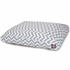 Gray Chevron Medium Rectangle Pet Bed