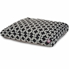 Majestic Black Links Medium Rectangle Pet Bed