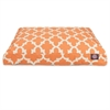 Peach Trellis Medium Rectangle Pet Bed