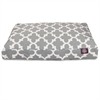 Gray Trellis Medium Rectangle Pet Bed