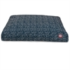Navy Blue Navajo Medium Rectangle Pet Bed