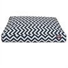 Navy Blue Chevron Medium Rectangle Pet Bed