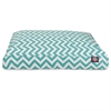 Majestic Teal Chevron Medium Rectangle Pet Bed