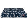Navy Sea Horse Medium Rectangle Pet Bed