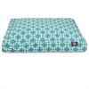 Teal Links Medium Rectangle Pet Bed