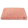 Orange Aruba Large Rectangle Pet Bed