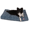 Navy Blue Navajo Large Rectangle Pet Bed