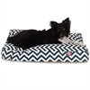 Navy Blue Chevron Large Rectangle Pet Bed