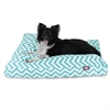 Teal Chevron Large Rectangle Pet Bed