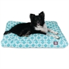 Teal Links Large Rectangle Pet Bed