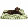 Sage Chevron Extra Large Rectangle Pet Bed