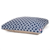 Navy Blue Links Extra Large Rectangle Pet Bed