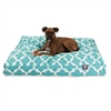 Teal Trellis Extra Large Rectangle Pet Bed