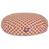 Majestic Burnt Orange Bamboo Small Round Pet Bed