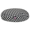 Black Bamboo Small Round Pet Bed