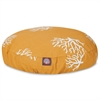 Yellow Coral Small Round Pet Bed