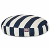 Navy Blue Vertical Stripe Small Round Pet Bed