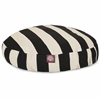 Black Vertical Stripe Small Round Pet Bed