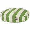 Majestic Sage Vertical Stripe Small Round Pet Bed