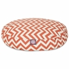 Burnt Orange Chevron Small Round Pet Bed