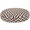 Majestic Chocolate Chevron Small Round Pet Bed
