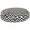 Majestic Black Chevron Small Round Pet Bed