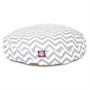 Gray Chevron Small Round Pet Bed
