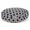 Majestic Black Links Small Round Pet Bed