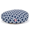 Navy Blue Links Small Round Pet Bed