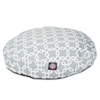 Gray Links Small Round Pet Bed