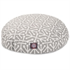 Gray Aruba Small Round Pet Bed