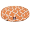 Peach Trellis Small Round Pet Bed
