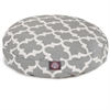 Gray Trellis Small Round Pet Bed
