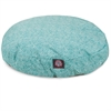 Teal Navajo Small Round Pet Bed