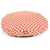 Majestic Burnt Orange Bamboo Medium Round Pet Bed