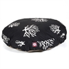 Black Coral Medium Round Pet Bed