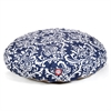 Navy Blue French Quarter Medium Round Pet Bed