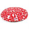 Red Plantation Medium Round Pet Bed