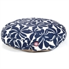 Navy Blue Plantation Medium Round Pet Bed