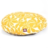 Yellow Plantation Medium Round Pet Bed