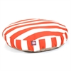 Burnt Orange Vertical Stripe Medium Round Pet Bed