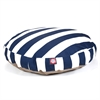 Navy Blue Vertical Stripe Medium Round Pet Bed