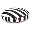 Black Vertical Stripe Medium Round Pet Bed