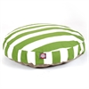 Majestic Sage Vertical Stripe Medium Round Pet Bed