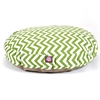 Sage Chevron Medium Round Pet Bed