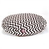 Chocolate Chevron Medium Round Pet Bed
