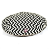 Black Chevron Medium Round Pet Bed