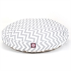 Gray Chevron Medium Round Pet Bed