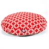 Red Links Medium Round Pet Bed